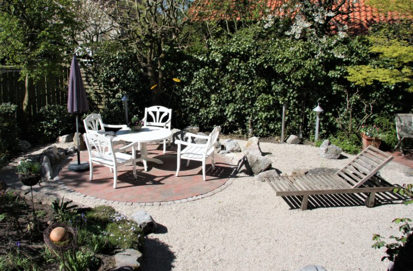 Gartenteich entfernt, Platz zum entspannen